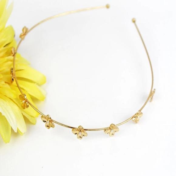Accessories - GOLDTONE FLOWER HEADBAND